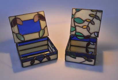 Grow series boxes ~ Stained Glass by Colleen Clifford in Humboldt County