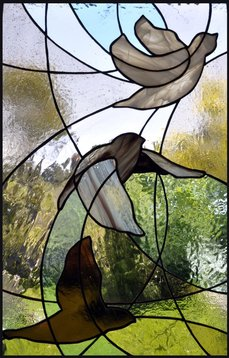 Taking Flight ~ Stained Glass by Colleen Clifford in Humboldt County