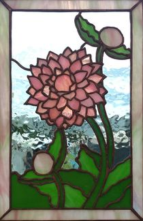 Dahlia ~ Stained Glass by Colleen Clifford in Humboldt County