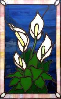 Peace Lily ~ Stained Glass by Colleen Clifford in Humboldt County