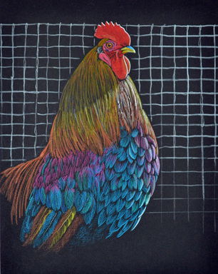 Leghorn Rooster by Patricia Sundgren Smith