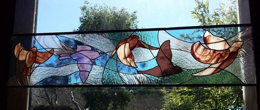 Nora's Birds ~ Stained Glass by Colleen Clifford in Humboldt County