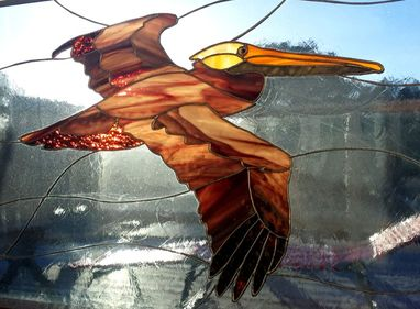Pelican Stained Glass by Colleen Clifford in Humboldt County