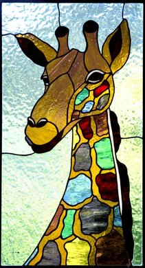 Purple Tongue ~ Stained Glass by Colleen Clifford in Humboldt County
