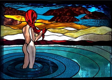 Lady of the Lake ~ Stained Glass by Colleen Clifford in Humboldt County