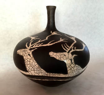 Lascaux Stags by Laura Rose