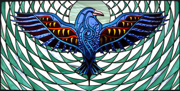 Raven ~ Stained Glass by Colleen Clifford in Humboldt County