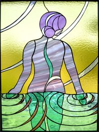 Renew ~ Stained Glass by Colleen Clifford in Humboldt County